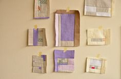 Sue's Improv Patchwork by the workroom, via Flickr