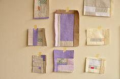 Sue's Improv Patchwork by the workroom, via Flickr