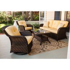 Newport Outdoor Seating Set Cornsilk - 4 pc. - Sam's Club