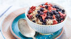 Healthy breakfast combo: a bowl of hot amaranth topped with fresh berries and a pinch of cardamom. #breakfastrecipes #healthyeating #healthyrecipes #everydayhealth | everydayhealth.com