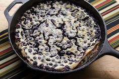 A Less Processed Life: What's For Dessert: Julia Child's Blueberry Clafoutis