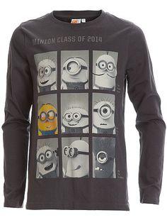Tee-shirt 'Minions' gris Garçon adolescent