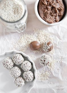 simple sesame truffles with carob (vegan gluten-free)