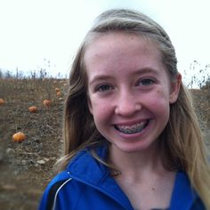 Braces in a pumpkin patch