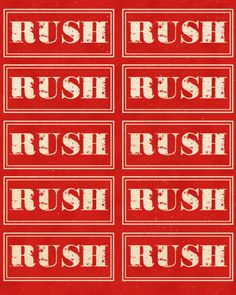 rush, many others and you can print to Avery stickers/labels great site! free!