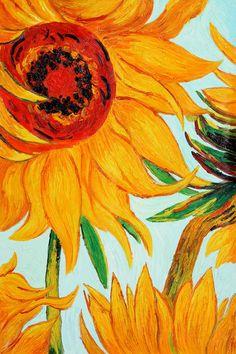 Sunflowers by Van Gogh One of my favorite Van Gogh's Guest room