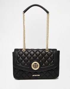 Love Moschino Quilted Shoulder Bag in Black