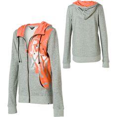 roxy women's sweatshirts | Roxy Three Sixty Full-Zip Hooded Sweatshirt - Women's | Dogfunk.com