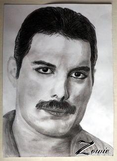 Freddie Mercury Crayon graphite Freddie Mercury, Art Et Nature, Queen Drawing, Gravure, Portrait Art, Graphite, Claire, Art Drawings, Rock