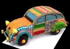 2 cv 3 en bonbons Biscotti, Toys, Baby, Ideas, Party, Disney Weddings, Gummi Candy, Bricolage, Recipes