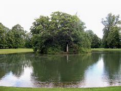 The Lady of the Lake.  In 1997, Princess Diana was laid to rest on a small island in Round Oval lake, inhabited by black swans, on the Spencer family estate, Althorp, in North Hampshire. Only an urn on a pillar is visible from shore. The path to the island's entry is lined with 36 birch trees, one for every year of her life.