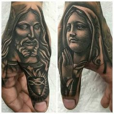 Absolutely love this idea Chicano Tattoos, Dope Tattoos, Badass Tattoos, Body Art Tattoos, Tattoo Drawings, Christ Tattoo, Jesus Tattoo, Neck Tattoo For Guys, Hand Tattoos For Guys