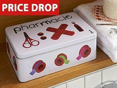 Cute first aid box, instead of using a shoe box!