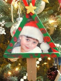 Preschool picture frame ornament