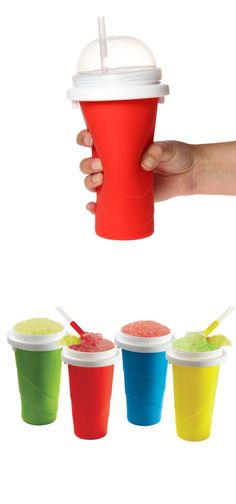 Squeezy Freezy - turns your drink into a frosty treat without using ice or electricity. BPA-free.