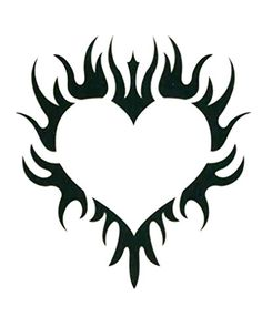"Tribal Heart Temporary Body Art Tattoos 2.5"" x 3.5"". Safe & Non Toixc FDA certified colorants. Easy to Apply! Comes with instructions!. Easy to Remove! Temporary is the idea!. Lasts 3-5 Days on average!."