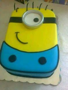 Image result for flat minion cake