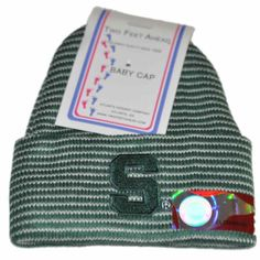 Michigan State Spartans TFA Infant Baby Green Striped Knit Beanie Hat Cap