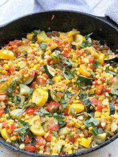 Corn Recipes, Side Dish Recipes, Veggie Recipes, Veggie Meals, Canning Recipes, Greek Recipes, Healthy Meals, Keto Recipes