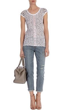 Leopard and triangles   Leopard print t-shirt   Karen Millen   Pretty Little Liars