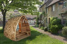 SaunaPod Red Cedar Clear | Ticra Buitenleven