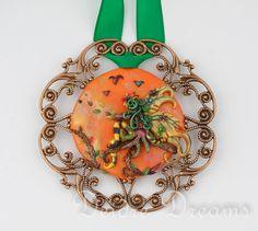 - SOLD - Pagan Autumn Fairy Wood Nymph Art Pendant  by DeidreDreams on Etsy, $90.00