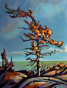 """Title: """"Infinitive space"""" by Jerzy Werbel Acrylic on canvas  # painting# fine art# acrylic# # Canada# contemporary# north #Ontario"""