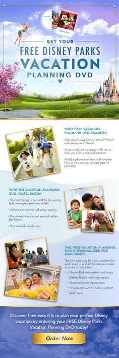 Get your FREE Disney Parks Vacation Planning DVD! Get the DVD - then call me and I will take care of your trip for you!