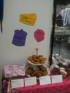 Cake Sale in British Red Cross Northwich for the Vintage Weekend March 2013