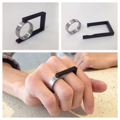 FERNANDA BARBA-MEX _ double ring _ stainless steel MAGNET!!!!!!
