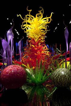 Dave Chihuly- Blown glass artist