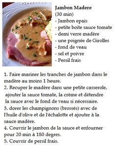 Jambon au madere