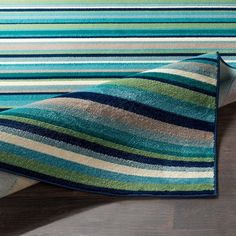 Shop Godric Teal Striped Area Rug - x - Overstock - 22403132 Teal Area Rug, Area Rugs, Glider Chair, Cool Tones, Rug Store, Online Home Decor Stores, Cool Rugs, Rugs Online, Modern Decor
