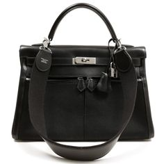 Hermes Black Kelly Lakis Bag | From a collection of rare vintage handbags and purses at https://www.1stdibs.com/fashion/handbags-purses-bags/