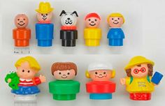 Just the other day I was digging out my old Legos for my son and I found my original wooden Little People at the bottom of the Lego bin.