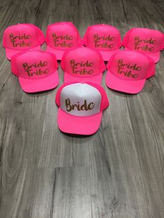 Bride Tribe Bride Trucker Hat Bride Tribe by sunsetsigndesigns
