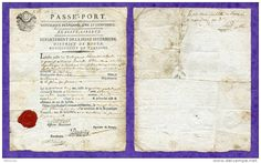 Passeport Révolutionnaire 1795