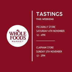We are going to be at two London Whole Foods Market UK stores over the weekend. Saturday in Piccadilly and Sunday in Clapham. Pop by and taste our delicious Spice Drops! holylama.co.uk The 5th Of November, Whole Foods Market, Weekend Is Over, Whole Food Recipes, Spices, Sunday, London, Pop, Domingo