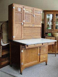 1920 S 1930 S Oak Sellers Kitchen Cabinet Vintage