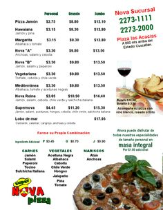 Las pizzas; especialidades e ingredientes