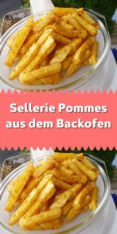 Sellerie Pommes aus dem Backofen Very tasty celery fries. They can be flavored with any spice to you Healthy Recipes For Diabetics, Healthy Gluten Free Recipes, Healthy Recipe Videos, Healthy Crockpot Recipes, Healthy Meals For Kids, Healthy Breakfast Recipes, Food Network Recipes, Fries Oven, Protein Dinner