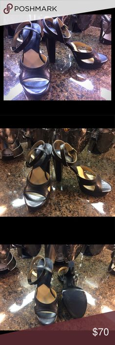 Michael Kors Beautiful leather heels with straps.  New without box.  Very elegant and class look.  A must have to your posh closet. Any questions please ask. No refund or exchanges. Michael Kors Shoes Heels