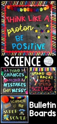 Science Bulletin Board Templates! Includes four templates ready to go!