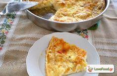 Τυρόπιτα με φύλλο κρούστας ή Πατσαβουρόπιτα . συνταγή από το loveFood. Δείτε και δοκιμάστε Συνταγές Μαγειρικής που αγαπάμε!