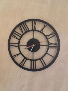 Metal tower style clock/ vintage/ loft/art deco/ industrial/gotic/ boho/  shabby shic/ retro/ oldschool/ steel/ iron/ wall/ cottage