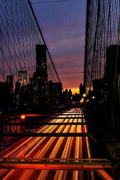 Sunset Brooklyn Bridge