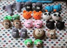 Fondant Cake Topper - Set of 3D Fondant Animals Heads - Perfectlyt Matches our Noah's Ark Cake Topper on Etsy, $34.99