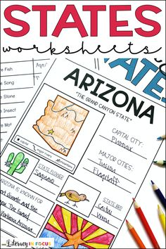 Geography Activities, Geography Lessons, Teaching Geography, Social Studies Activities, Teaching Social Studies, Homeschool Worksheets, Homeschooling, 3rd Grade Social Studies, States And Capitals