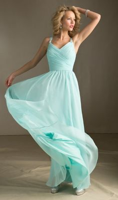 Bridesmaid Dresses - would have to be different color, but like the dress!