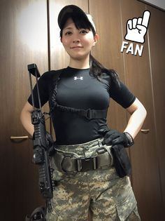 Women With Weapons - Hot Military Girls - Girls With Guns Photo. Facts That Show How Far Women Have Come In The Military Airsoft Girls, Korean Girl, Asian Girl, Military Women, Military Army, Female Soldier, Girls Uniforms, N Girls, Poses